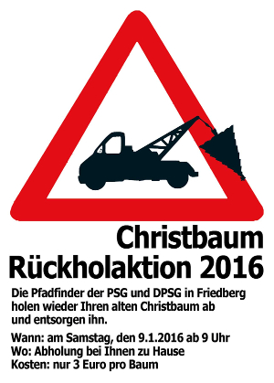 Christbaumrückholaktion 2016